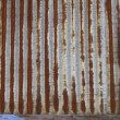 Corrugated iron wall — Stock fotografie