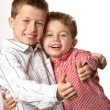 Stock Photo: Two young boys with thumbs up