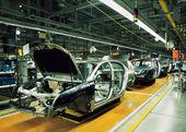 Ligne de production de voiture — Photo