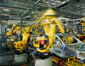Car production line — Stock Photo