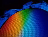 硅晶片 — 图库照片