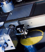 Close up of electronic part production machine — Stock Photo
