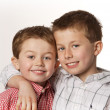 Stock Photo: Two boys smiling