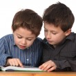 Two young boys learning — Stock Photo #4948863