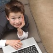 Boy with laptop — Stock Photo #5017201
