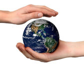 World in hand — Stock Photo