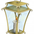 Lantern with candle — Foto de Stock