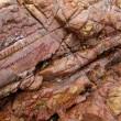 Rocky surface, sedimentary rock — Stock Photo