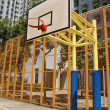 Basketball court in abstract view — Stock Photo