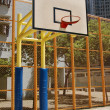 Basketball court in abstract view — Stock Photo #4490478