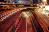 Road and traffic in downtown area of Hong Kong — Stock Photo