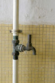 Metal water pipelines — Stock Photo