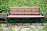 Stuhl in landschaft — Stockfoto