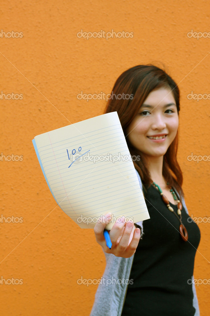 She is a typical beautiful asian girl. — Stock Photo #4490252