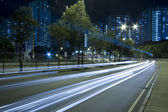 Traffic in downtown of Hong Kong — Stock Photo