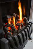 Cosy warm fire — Stock Photo
