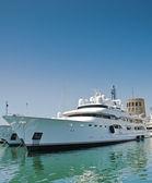 Millionaire's luxury yacht — Stock Photo