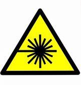 Laser warning hazard sign — Stock Photo