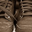 Stock Photo: Trainers close up