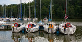 Samall port de plaisance au ruciane-nida — Photo