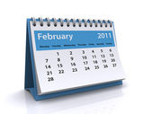 February 2011 calendar — Stock Photo