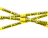 Crime scene tape — Stock Photo