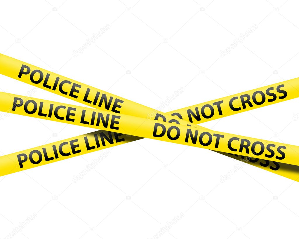 Police line tape isolated over a white background — Stock Photo #4583304