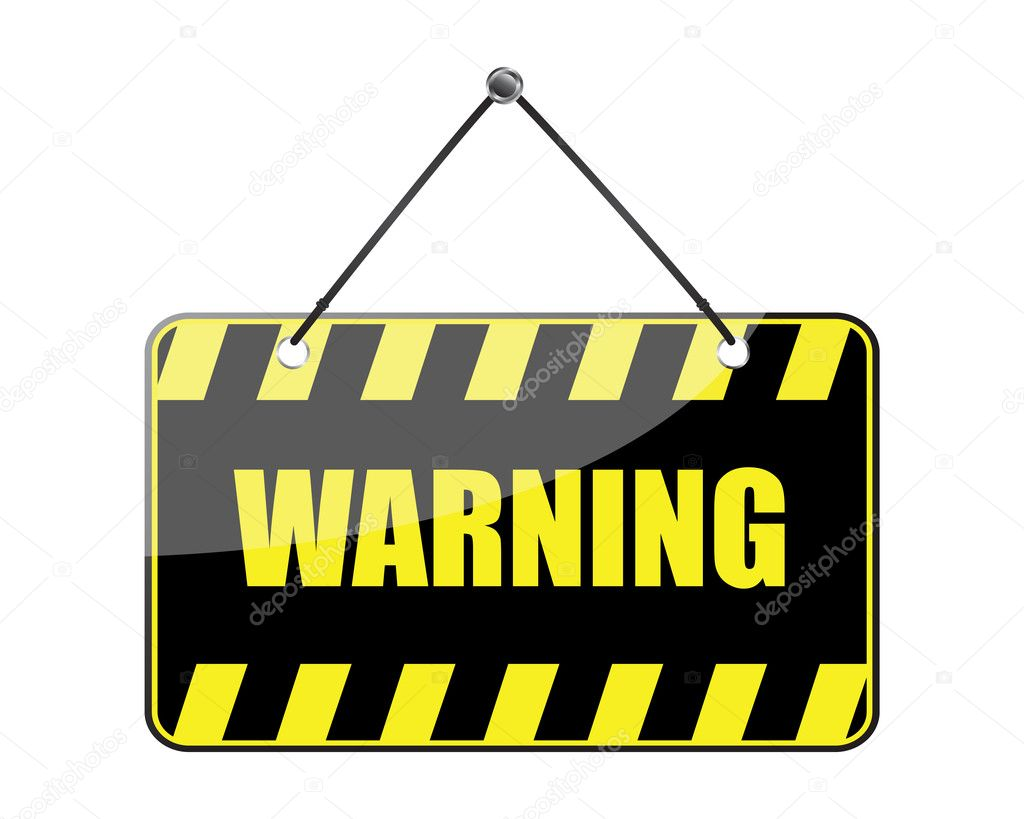 Warning sign isolated on a white background (vector) — Stock Vector #4636939