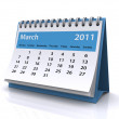 March 2011 calendar — Stock Photo
