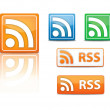 Rss feed icons — Stock Vector