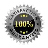 100% satisfaction guaranteed label (vector) — Stock Vector