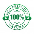 100% eco friendly natural label (vector) — Stock Vector