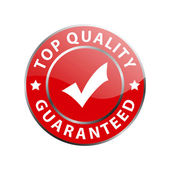 Top quality guaranteed label — Stock Vector