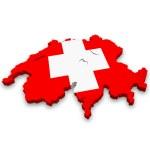 Map of Switzerland — Stock Photo