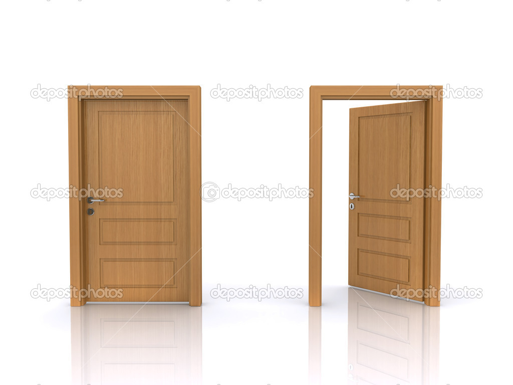 Open and closed doors — Stock Photo © devke #5209576