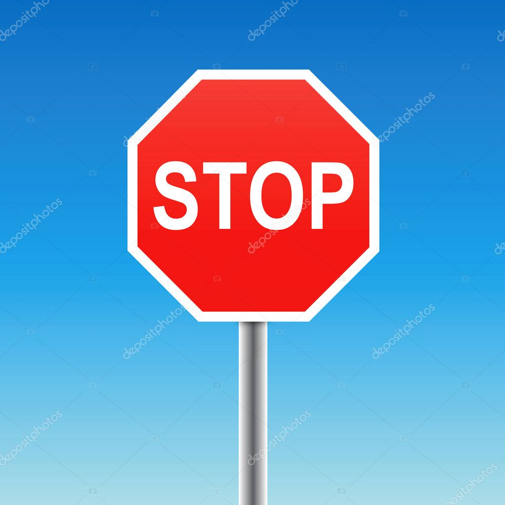 Vector illustration of a stop sign — Stock Vector #5243796