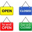 Stock Vector: Open and closed signs
