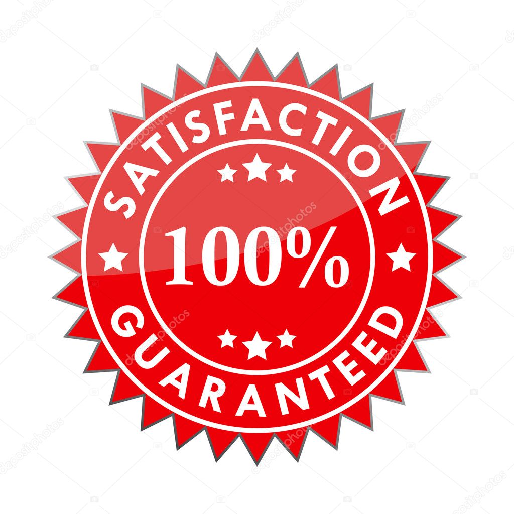 100% satisfaction guaranteed label isolated on a white background (vector) — Stock Vector #5349826
