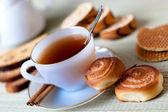 Tea with cookies — Stock Photo