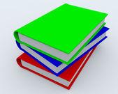 Högen av böcker — Stockfoto