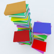 Stacks of coloured books — Stock Photo