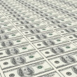 Stock Photo: Uncut sheet of one hundred dollars