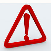 3d exclamation point in triangle — Stock Photo