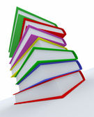 Stack of coloured books — Stock Photo