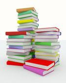 Pilhas de livros coloridos — Foto Stock