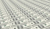 An uncut sheet of one hundred dollars — Stock Photo