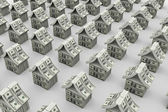Dollars houses — Stock Photo