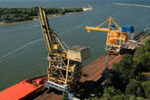Cranes in Swinoujscie port, Poland — Stock Photo