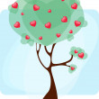 Royalty-Free Stock Vector Image: Tree with hearts