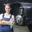 Auto Repair trainee is satisfied — Stock Photo